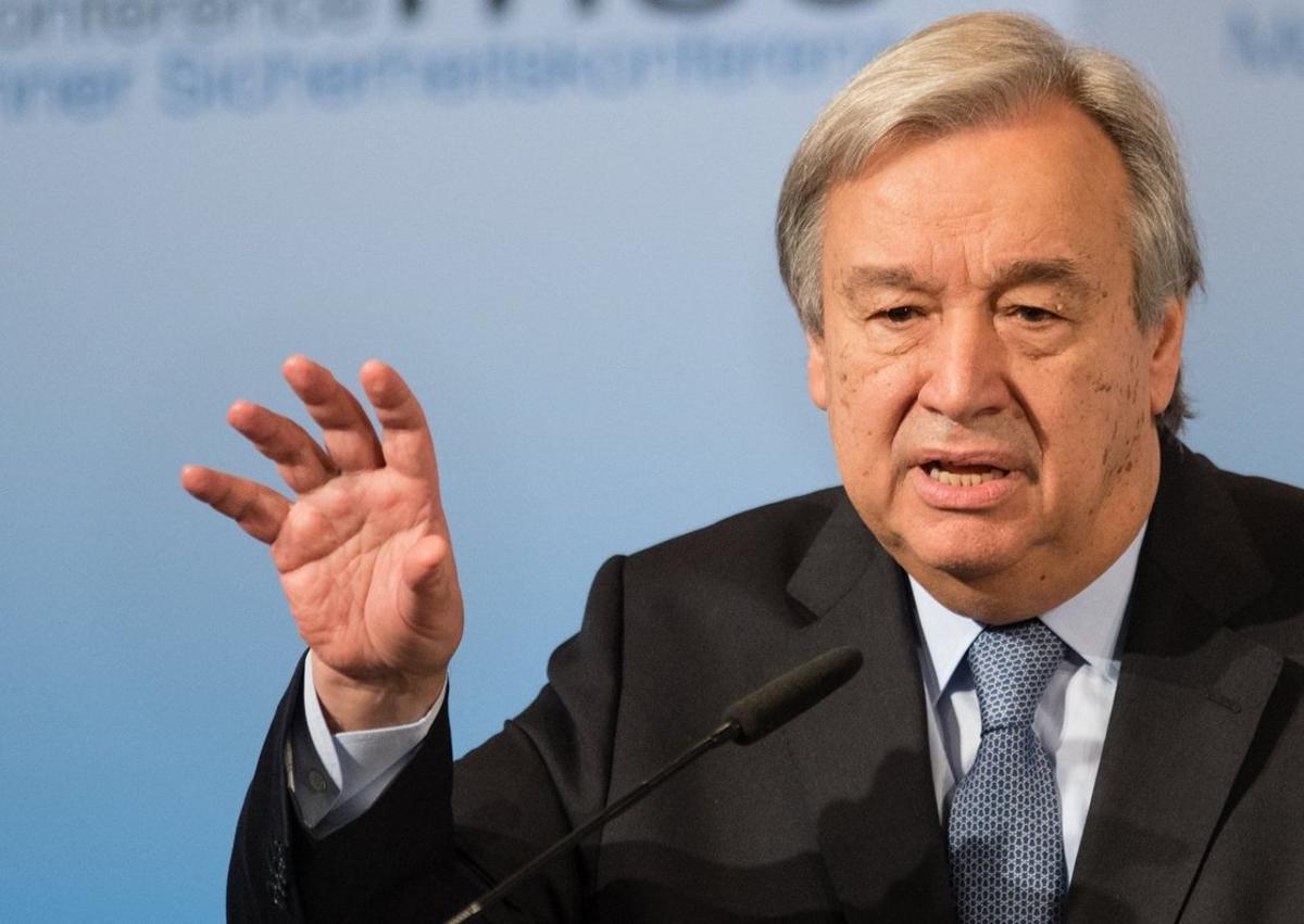 António Guterres,secretario general de Naciones Unidas.
