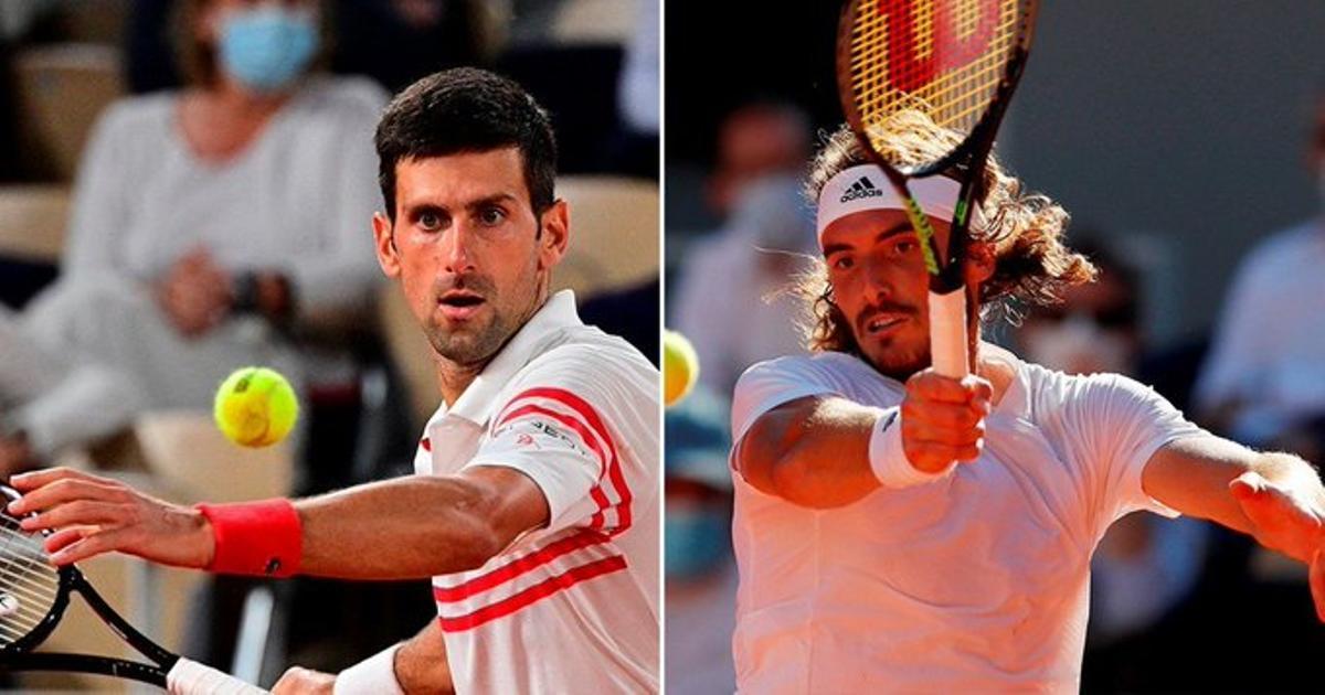 Djokovic y Tsitsipas.