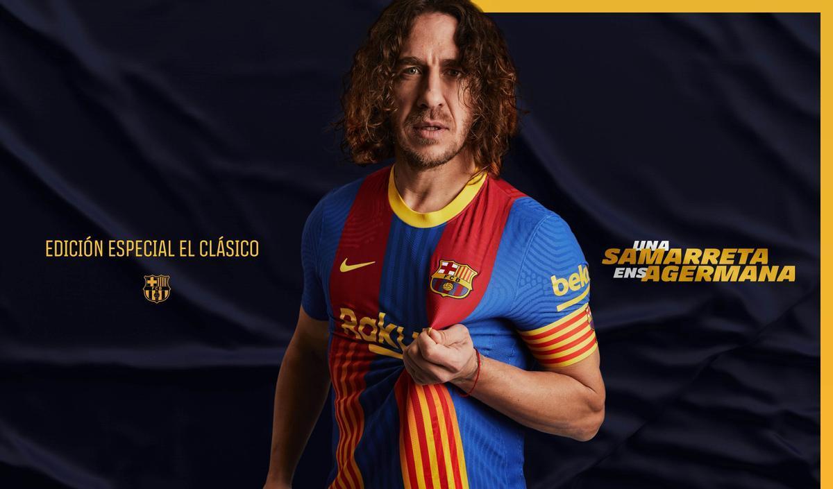 El Barça presenta una samarreta especial amb senyera per al clàssic