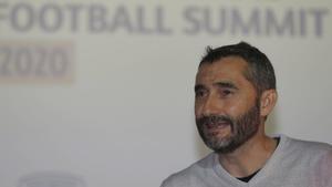 Ernesto Valverde, en Bilbao.