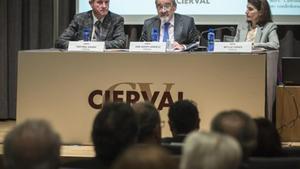 José Vicente González (en el centro) fue el último presidente de Cierval y quien impulsó su liquidación