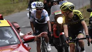 Una calamarsada obliga a suspendre l'etapa del Tour en plena desfeta d'Alaphilippe