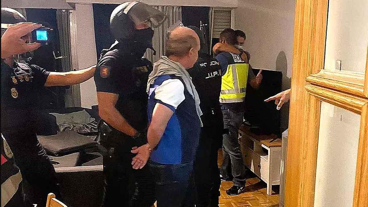 Un momento de la detención de 'El pollo' Carvajal.