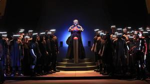 Ensayos de 'Turandot', a punto para el estreno en la apertura del Liceu, este viernes.
