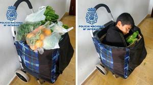 Dos detinguts per haver ficat un nen en un carretó de comprar, a Melilla