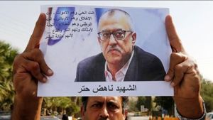 El escritor jordano Nahed Hattar.