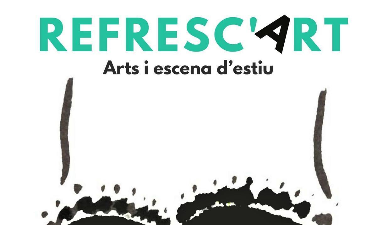Cartel del programa 'Refresc'Art' de Mollet del Vallès.