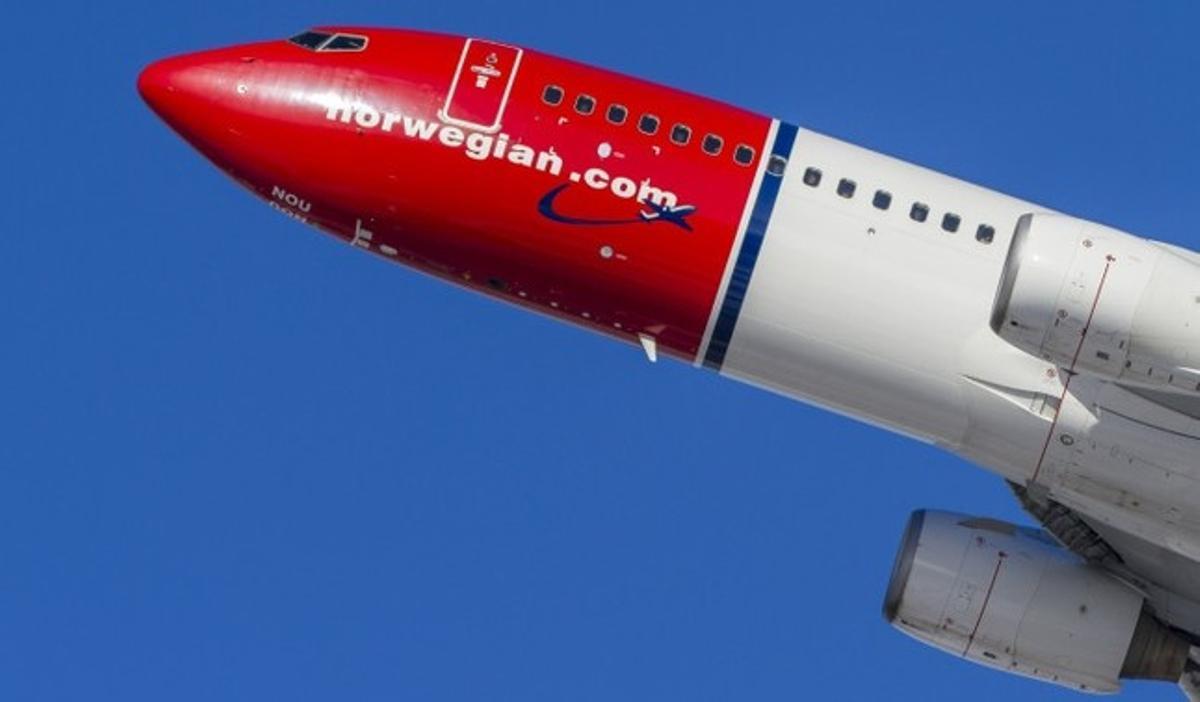 Un avión de Norwegian.