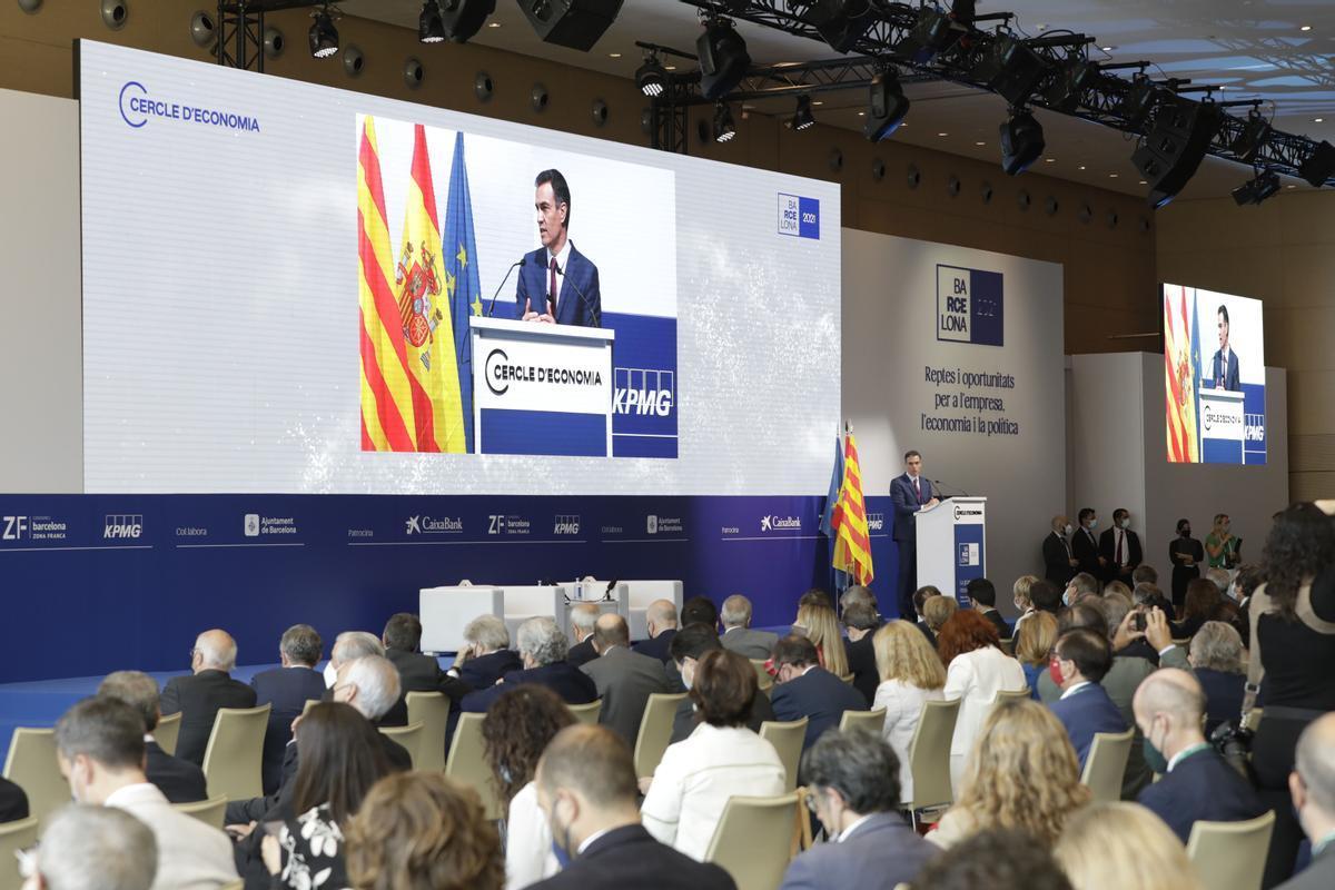 Pedro Sánchez, en el Cercle d'Economia.