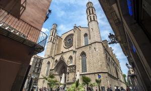 Una imagen de la iglesia de Santa Maria del Mar, en Barcelona.