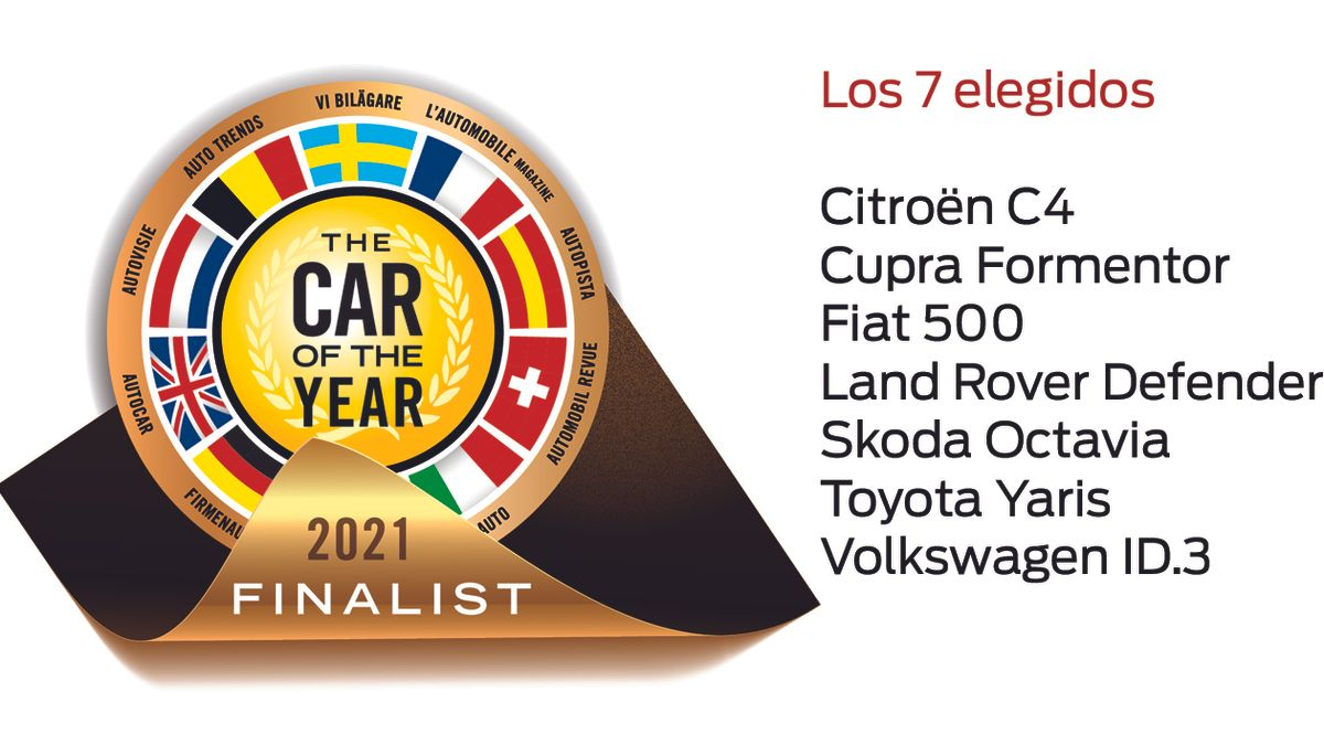 Los siete finalistas del Car Of The Year 2021.