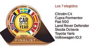 Los siete finalistas del Car Of The Year 2021.
