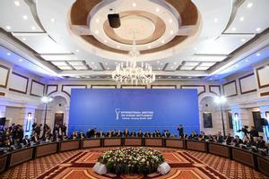 Inicio de las negociaciones de paz para Siria en el hotel Rixos Presidente de Astaná.