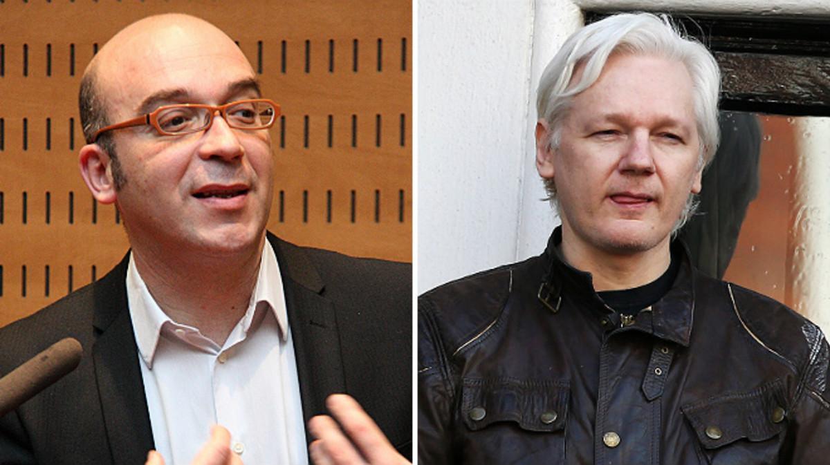 El empresario catalán Oriol Soler y el ciberactivista Julian Assange