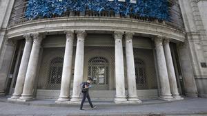 El teatro Coliseum de Barcelona,cerradodurante el estado de alarma por el covid.