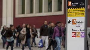 Prueba de fuego. Con la vuelta de la Semana Santa, las alternativas pasarán la prueba de fuego. La L-1, los buses lanzadera por la Meridiana y otros eventuales transportes en origen deberán absorber las 57.000 personas que usan cada día estas estaciones.
