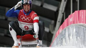 Un atleta estadounidense en los juegos de invierno 2018