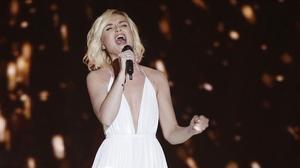 La rusa Polina Gagarina, en la primera semifinal de Eurovisión.