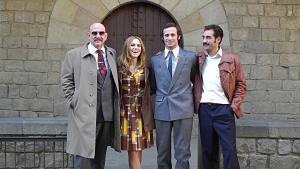 Rodaje de la nueva serie de Movistar +, 'El día de mañana', protagonizada por Oriol Pla y Aura Garrido.