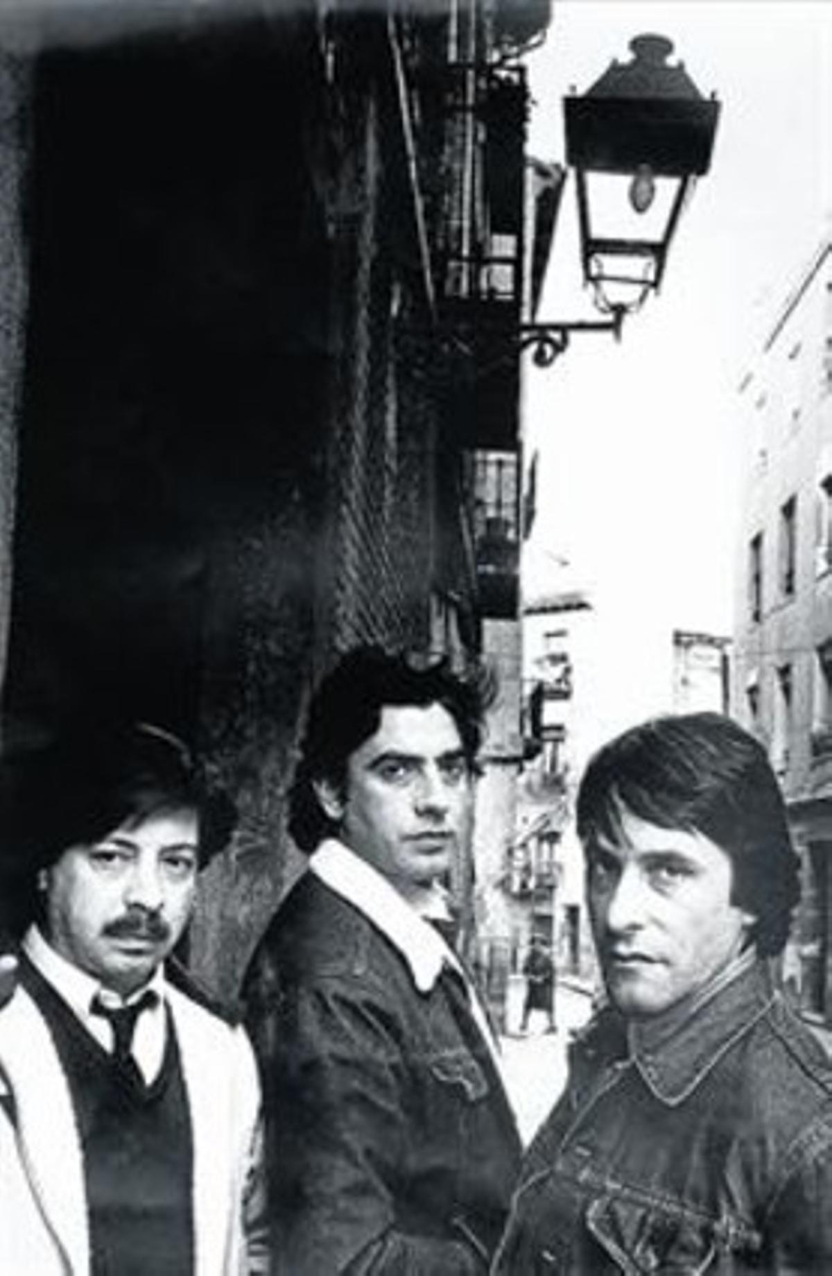 Triana: de izquierda a derecha: Juan José Palacios 'Tele', Jesús de la Rosa y Eduardo Rodríguez.