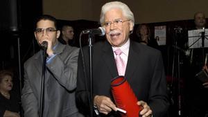 Johnny Pacheco, en 2008, durante la celebración de su 73 cumpleaños.