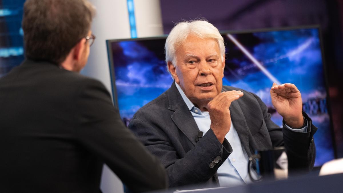 Pablo Motos y Felipe González en 'El hormiguero'