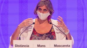 La 'consellera' de Salut, Alba Vergès, durante la presentación del protocolo sanitario del curso.