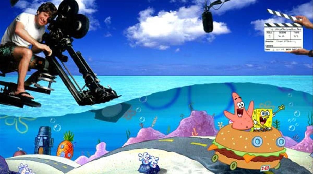 Stephen Hillenburg, en una imagen promocional de 'Bob Esponja: La película'.