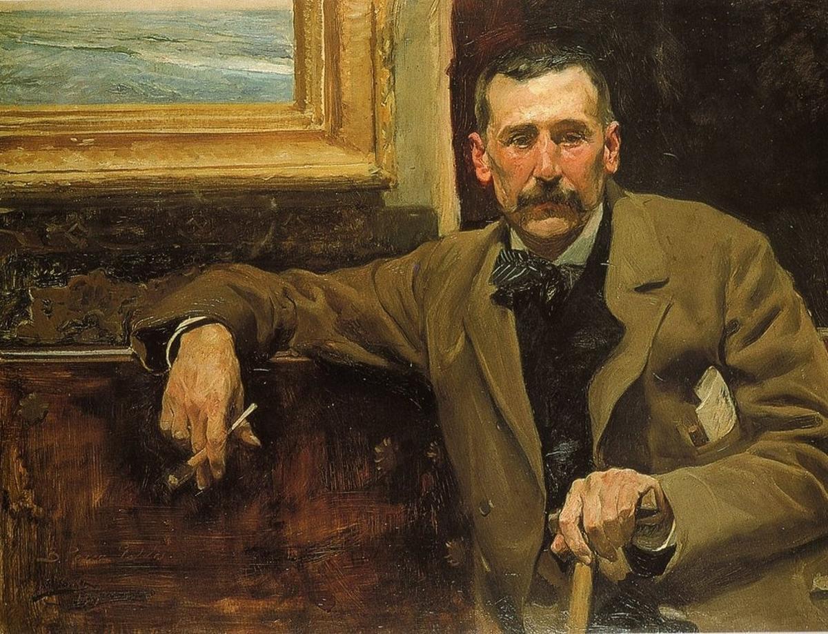 Un retrato de Benito Pérez Galdós.