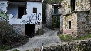 Una aldea abandonada en Ourense.
