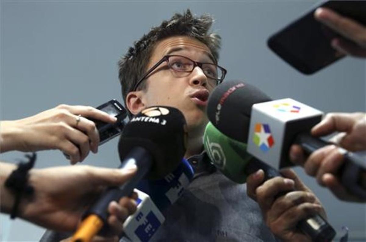 Imagen de archivo de Iñigo Errejón atendiendo a los medios.