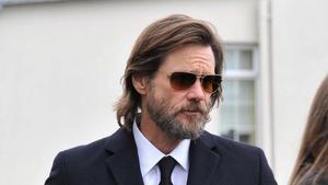 Jim Carrey, en el funeral de su exnovia, Cathriona White, en octubre del 2015.