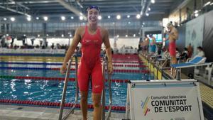 África Zamorano, feliz tras lograr el billete olímpico.