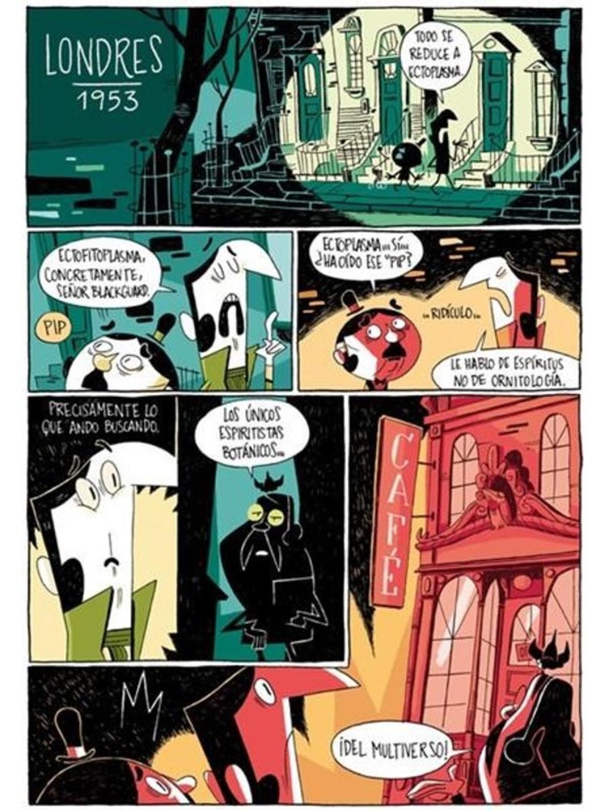 Página de una historia corta de Fran Collado, que forma parte de la nueva revista de cómic 'Voltio'.