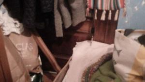 La habitación donde presuntamente estuvo retenida Beatriz M.