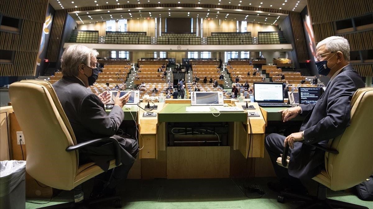 Trump desluce el mensaje multilateralista de la ONU en 75 aniversario