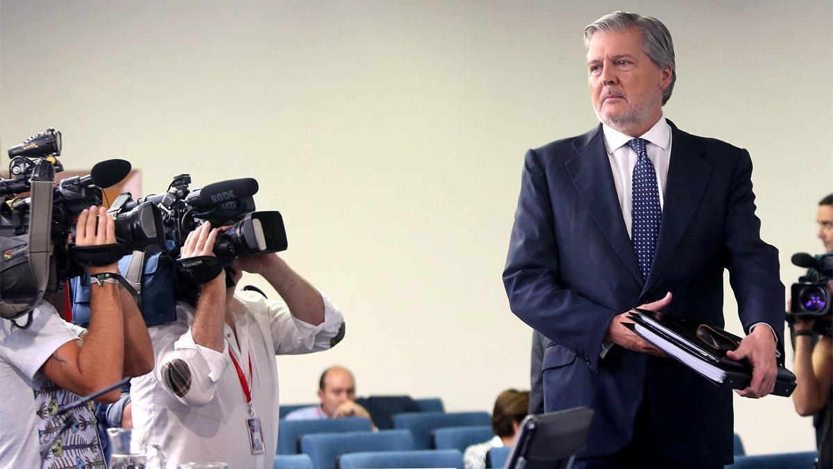 El portavoz del Gobierno, Íñigo Méndez de Vigo, tras el Consejo de Ministros.