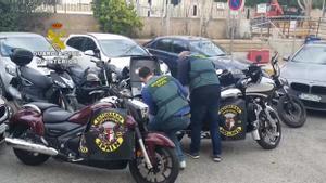 Desarticulada en Alicante una banda motera dedicada al tráfico de marihuana.