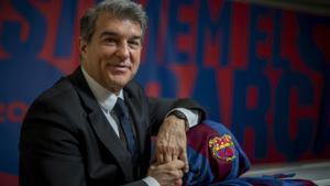 Joan Laporta: «M'agrada ser davanter centre, però he jugat de De Jong»