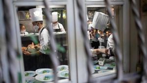 La cocina de El Celler de Can Roca, en acción.