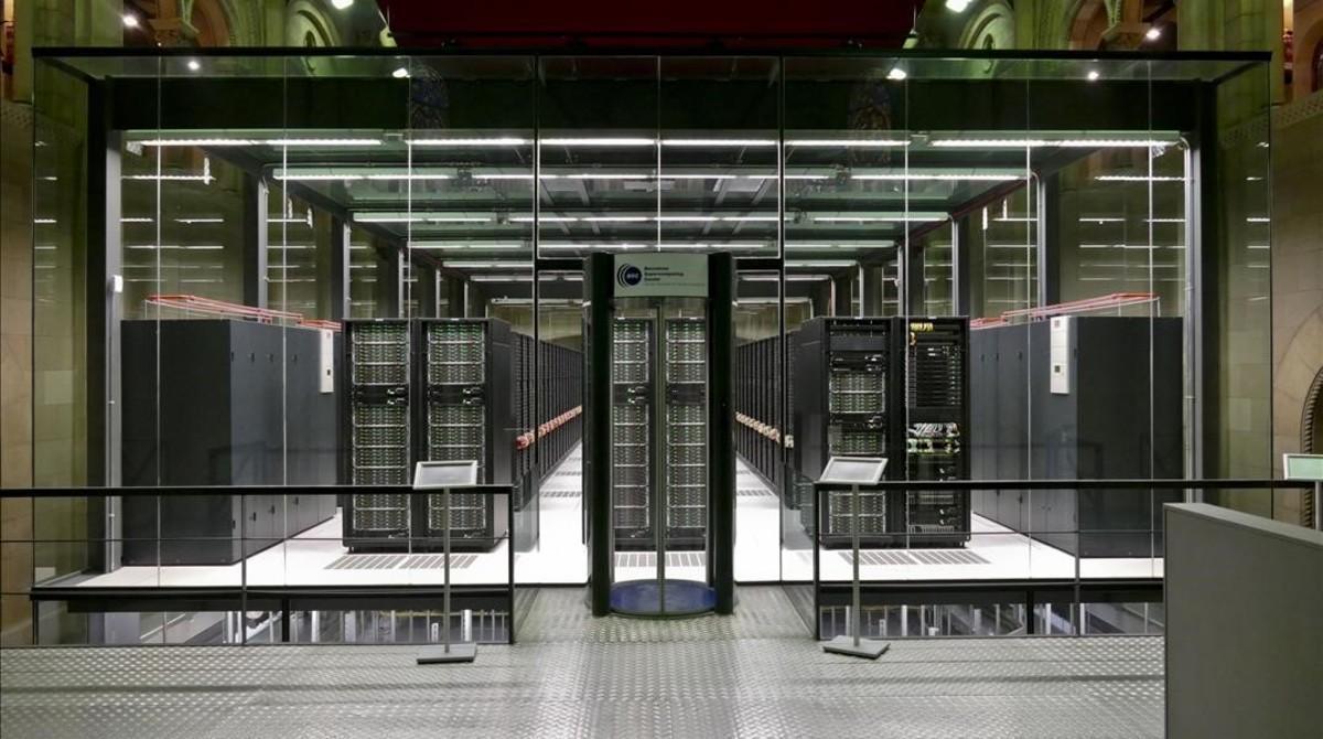 Superordenador Mare Nostrum 4, en el Barcelona Supercomputing Center.