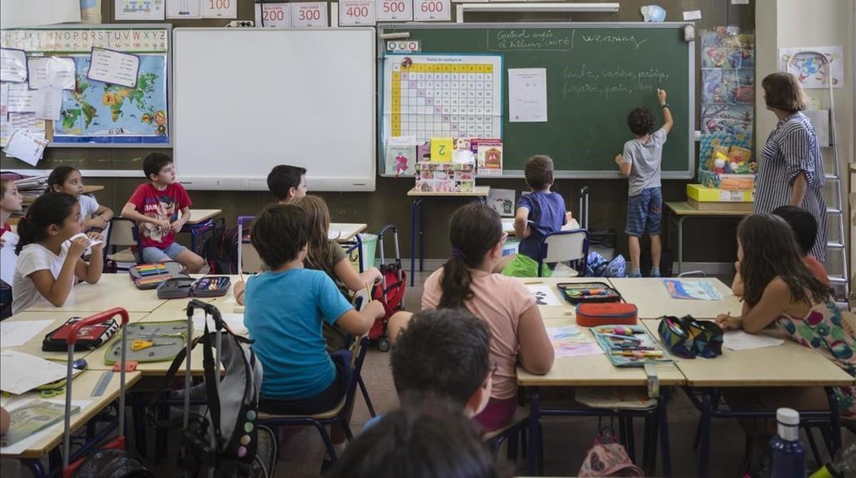 El colegio público Jaume Balmes, en València.