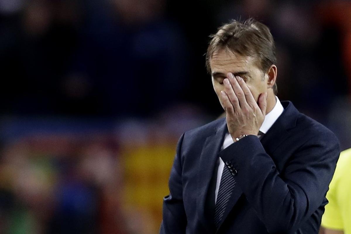 Julen Lopetegui, en su último partido con el Madrid.