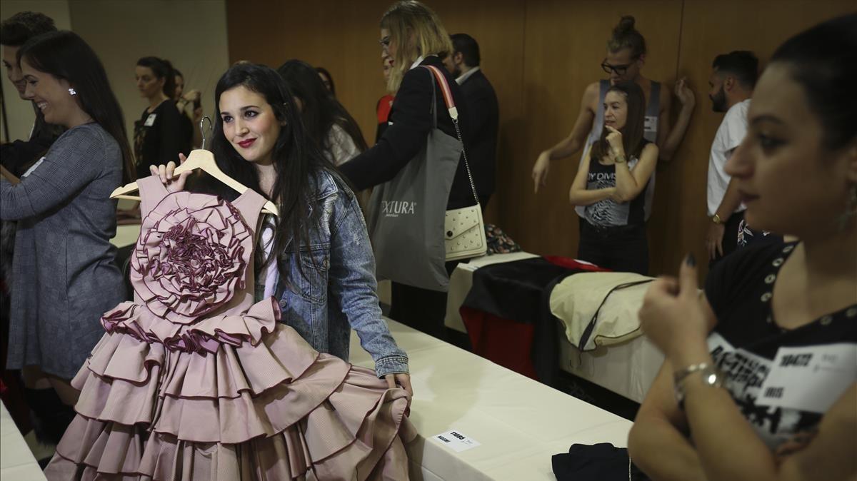 El 'casting' de 'Maestros de la costura' en Barcelona.
