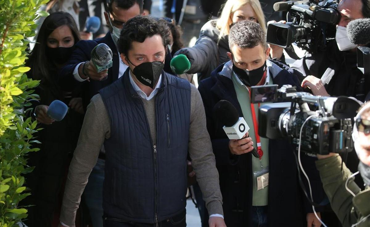 El Pequeño Nicolás, a su llegada a la Audiencia Provincial de Madrid.