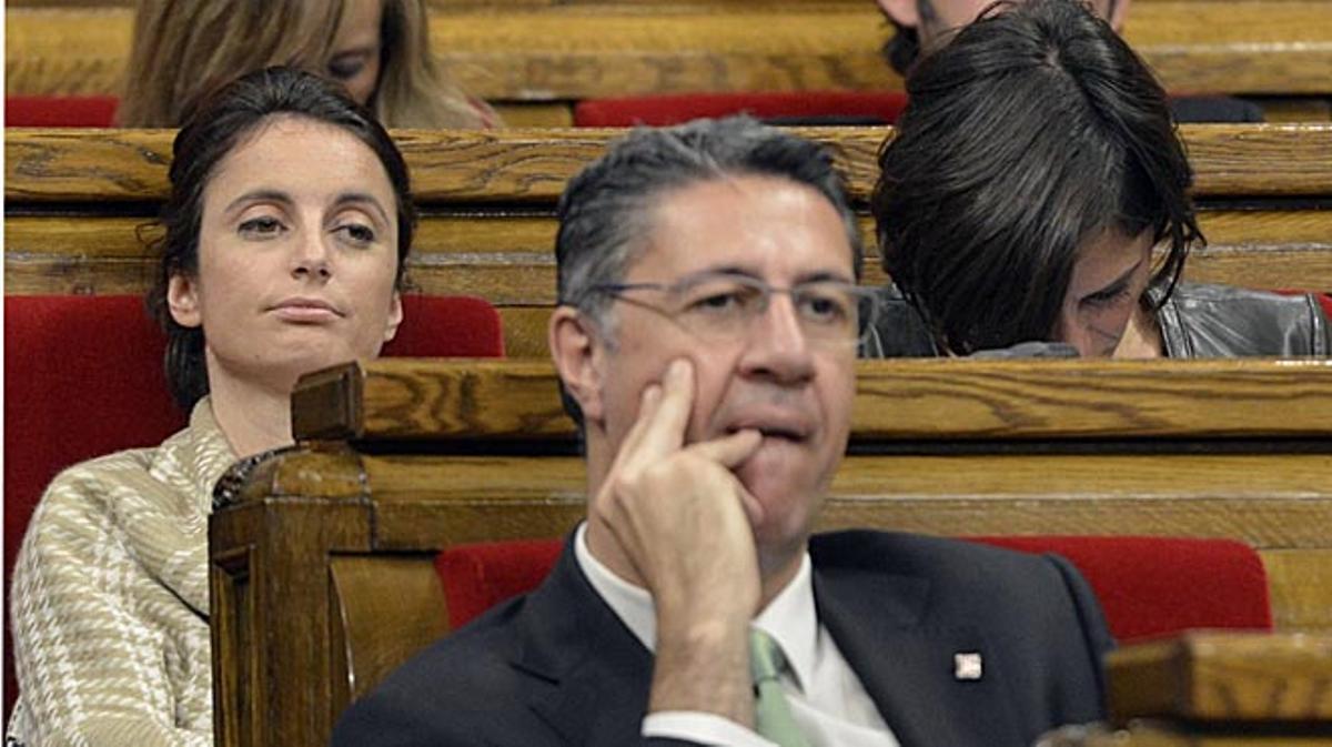 Imágenes de Andrea Levy en la sesión de investidura del Parlament del pasado martes.