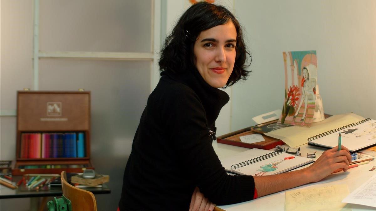 Sonia Pulido, en su estudio de Barcelona, en una imagen del 2007.