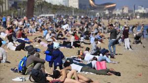 La platja de laBarceloneta.