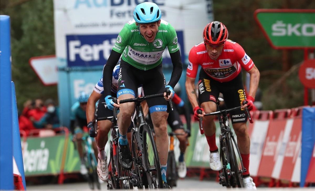 El ciclista irlandés Dan Martin gana la tercera etapa de la Vuelta.