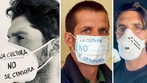 Cayetano Rivera, El Juli y Alejandro Talavante, en sus fotos de la campaña #MinistrodeCensura.